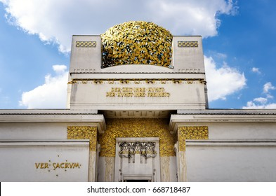 VIENNA, AUSTRIA - MAY 17, 2017: Secession building in Vienna (Austria), important example of austrian art nouveau in Karlsplatz, on may 17, 2017