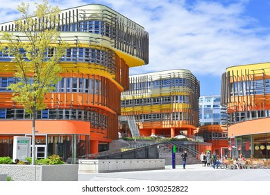 Vienna, Austria- May 2, 2017: Buildings of the Vienna University of Economics and Business.