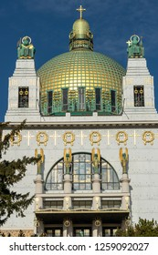 VIENNA, AUSTRIA - MAY, 2017, Kirche am Steinhof in Vienna, Austria. It is a Roman Catholic oratory designed by Otto Wagner, considered one of the most important Art Nouveau churches in the world