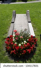 VIENNA, AUSTRIA - MAY 26: The tomb of Aloyz, Prince of Liechtenstein in central cemetery on May 26, 2009. it`s s one of the largest cemeteries in the world and most famous cemetery in Vienna.