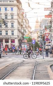 Vienna, Austria- May 27, 2018 : Street photography of Vienna downtown, Austria
