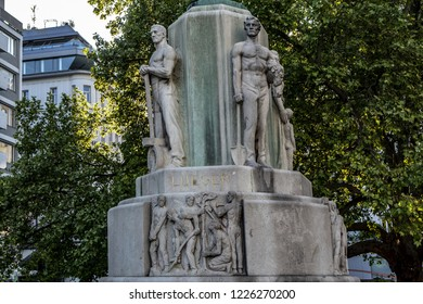 VIENNA, AUSTRIA - MAY 7, 2016: Karl Lueger Monument (1926) in Vienna. Karl Lueger  - Austrian politician, mayor of Vienna (1897-1910) and leader and cofounder the Austrian Christian Social Party.