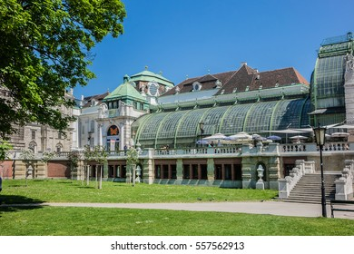 VIENNA, AUSTRIA - MAY 7, 2016: Butterfly House (Schmetterling haus) located in centre of town is one of premier attractions. Butterfly House was the Kaisers private botanical garden.
