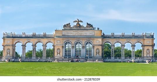 VIENNA, AUSTRIA - MAY 9, 2012. The Gloriette. The Schonbrunn Palace.