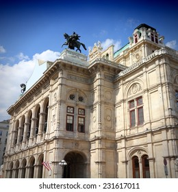 Vienna, Austria - National Opera House (Staatsoper). The Old Town is a UNESCO World Heritage Site. Square composition.