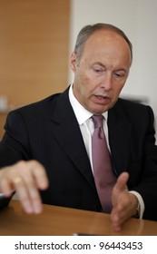 VIENNA, AUSTRIA - NOV 11: Wolfgang Ruttenstorfer, the CEO of Austrian oil company OMV, speaks in his offices in Vienna, Austria, Friday,  November 11, 2005.