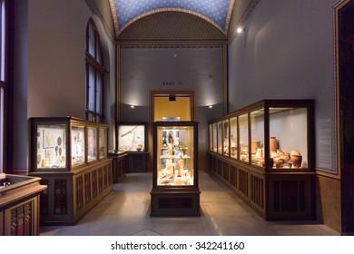 VIENNA, AUSTRIA - NOV 17, 2015: Interior of the Kunsthistorisches Museum (Museum of Art History). It was open in 1891