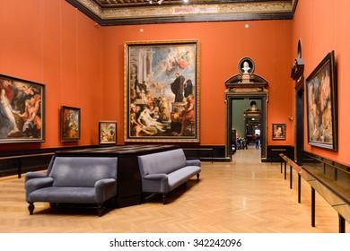 VIENNA, AUSTRIA - NOV 17, 2015: Gallery of the Kunsthistorisches Museum (Museum of Art History). It was open in 1891