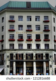 "VIENNA, AUSTRIA -NOVEMBER 2, 2010: ""Looshaus"" at Michaelerplatz. Designed by Austrian architect Adolf Loos in 1909. An important example of Viennese modernism."