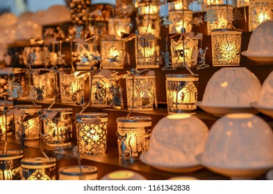 VIENNA, AUSTRIA - NOVEMBER 24, 2017: New year decorations in Vienna Christmas market