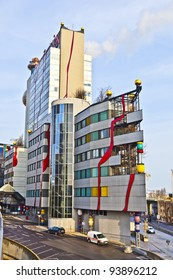 VIENNA, AUSTRIA - NOVEMBER 26: The District heating in Vienna of artist Hundertwasser on November 26, 2010 in Vienna, Austria.  It was inaugurated in 1992 and heats 60000 apartments.