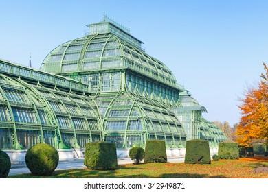 Vienna, Austria - November 3, 2015: The Palm house, Schonbrunn Palace