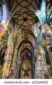VIENNA, AUSTRIA - NOVEMBER 30, 2012:Interior of St. Stephen's Cathedral in Vienna.
