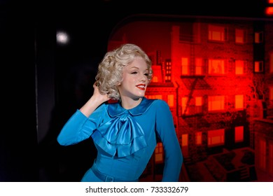 VIENNA, AUSTRIA - OCT 4, 2017: Marilyn Monroe, an American actress and model, Madame Tussauds wax museum in Vienna.