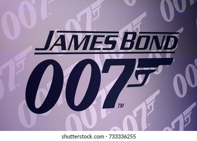 VIENNA, AUSTRIA - OCT 4, 2017:  Agent 007 James Bond sign,  Madame Tussauds wax museum in Vienna.