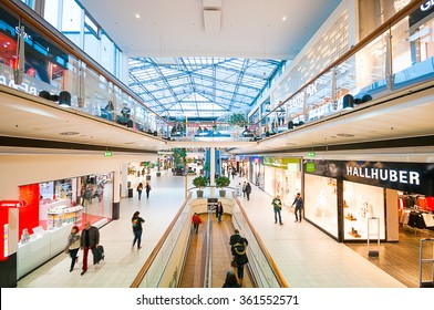 VIENNA, AUSTRIA - OCTOBER 20, 2015: Danube Center shopping mall (Donau Zentrum) in Vienna, Austria