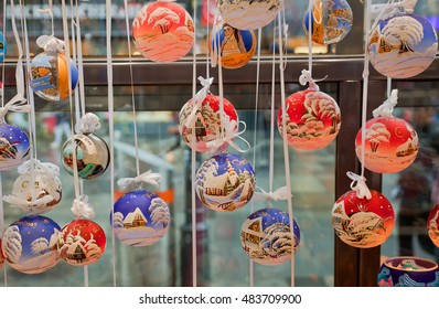 VIENNA, AUSTRIA - September 06, 2016: Christmas decorations in Wien Rathaus Market