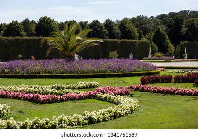 Vienna, Austria - September 10 2013: Beautiful summer Schonbrunn park, Vienna