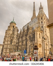 Vienna, Austria - September 4, 2014: St. Stephen's Cathedral - Catholic Cathedral, the national symbol of Austria and symbol of the city of Vienna.