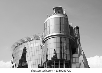 VIENNA, AUSTRIA - SEPTEMBER 9, 2011: Haas Haus building in Vienna. The building designed by Hans Hollein is one of the most recognized landmarks of Vienna.
