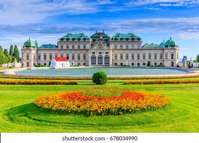 Vienna, Austria. Upper Belvedere Palace and garden.