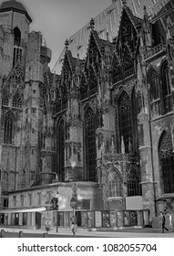 VIENNA, AUSTRIA-02/10/2011 : Facade of St. Stephen's Cathedral (more commonly known by its German title: Stephansdom) is the mother church of the Roman Catholic Archdiocese