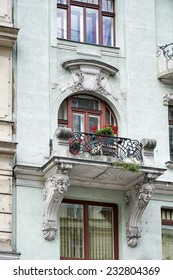 VIENNA, AUSTRIA/EUROPE - SEPTEMBER 22 : Detail of a baroque building in Vienna on September 22, 2014