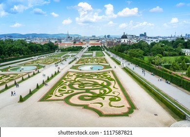Vienna Belvedere Palace and its beautiful gardens