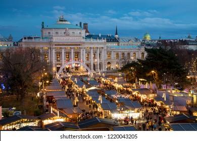 Vienna Christmas Market near Burgtheater