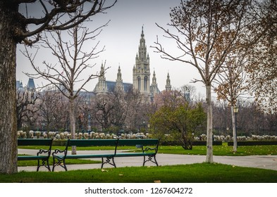 Vienna City Hall. Austria 14 december 2018  Vienna City Hall is the seat of local government of Vienna, located on Rathausplatz in the Innere Stadt district.