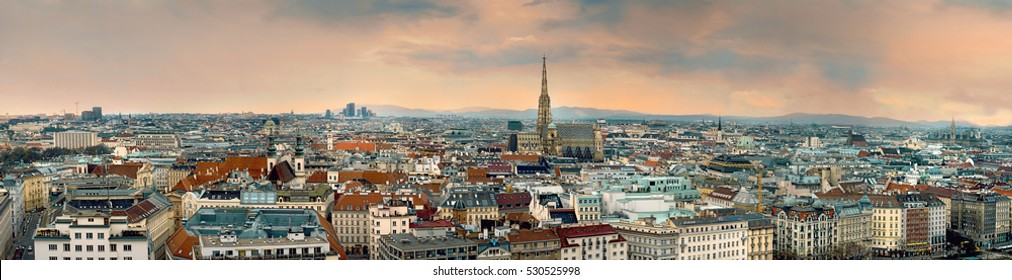 Vienna City Panorama in Austria