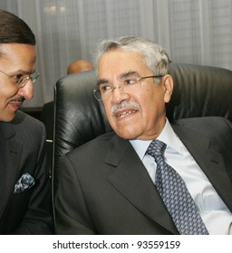 VIENNA - JAN 31: Saudi oil minister Ali I Nami, right, at the annual meeting of the  Organization of Petroleum Exporting Countries (OPEC) in Vienna, Austria,  on Tuesday, January 31, 2006.