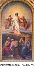 VIENNA - JULY 27:  Fresco of Transfiguration of the Lord scene from 19. cent. in Altlerchenfelder church on July 27, 2013 Vienna.