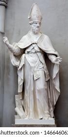 VIENNA - JULY 3: Statue of  st. Augustine the big teacher of west church in Augustinerkirche or Augustine church on July 3, 2013 Vienna.