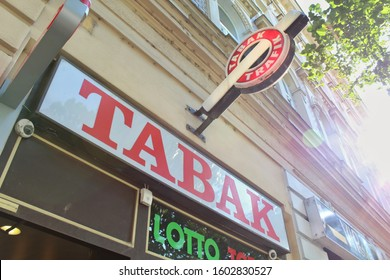 "VIENNA, November 15th, 2019 - ""Trafik"" shop where you buy cigarettes and magazines in Austria."