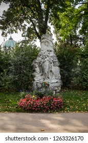 Vienna, Oct 01, 2017 - Central Cemetery, The Grave of Johan Strauss, The Waltz King.