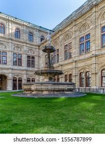 Vienna - Sep 27 2017 -  Lorelei Fountian Outside The Vienna State Opera House.