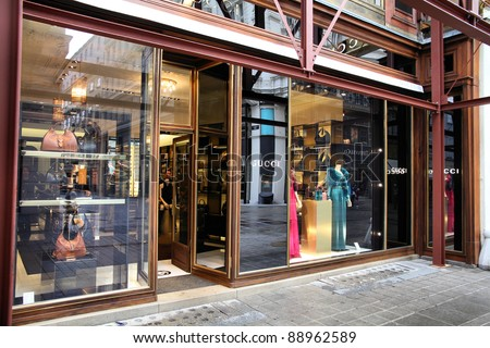 0a48b60c0 VIENNA SEPTEMBER 5 Gucci Store On Stock Photo (Edit Now) 88962589 ...