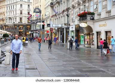 VIENNA - SEPTEMBER 5: People stroll on September 5, 2011 in Graben street in Vienna. As of 2008, Vienna was the 20th most visited city worldwide (by international visitors).