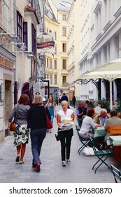 VIENNA - SEPTEMBER 7: People visit Old Town on September 7, 2011 in Vienna. As of 2008, Vienna was the 20th most visited city worldwide (by international visitors).
