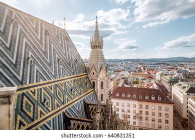 Vienna Skyline with St. Stephen's Cathedral, Vienna, Austria