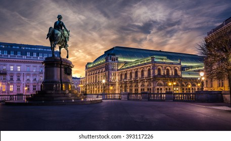 Vienna state opera at dawn