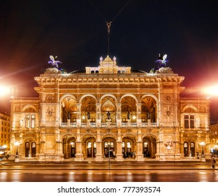 Vienna State Opera. It is located in the centre of Vienna, evening view of the Opera. 11.09.2017 Vienna, Austria