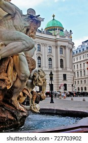 Vienna (Wien), Austria (Osterreich) - June 28, 2017 - Hofburg, the former imperial winter palace in the centre of Vienna. St. Michael's Wing on Michaelerplatz (St. Michael's Square)