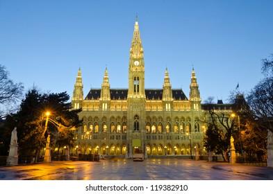 Vienna's Town Hall (Rathaus), Austria