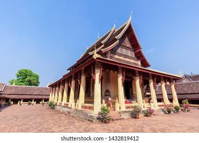 VIENTIANE, LAOS - MARCH 2019; Sisaket Temple