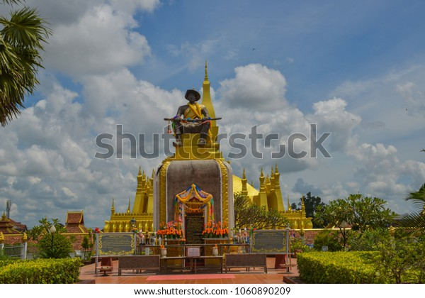 Vientiane Laos Symbol of Lao is This center That Luang
