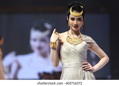 """Vientiene, Lao - March 18, 2017 ; Fashion Show of ""Vientiene WOW Fashion Week 2017"" which have 17 show from Laos and Thai brands at LandMark hotel, Jewelry"
