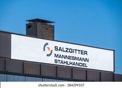 VIERSEN / GERMANY - MARCH 01 2016 : Mannesmann Salzgitter company building in the sun