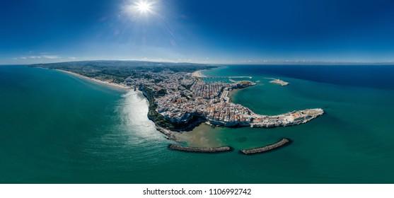 Vieste Apulia City Sea Coastline blue in Italy